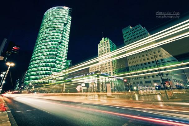 Berlin - Potsdamer Platz bei Nacht