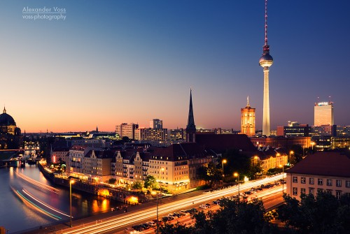 Berlin – Skyline bei Nacht