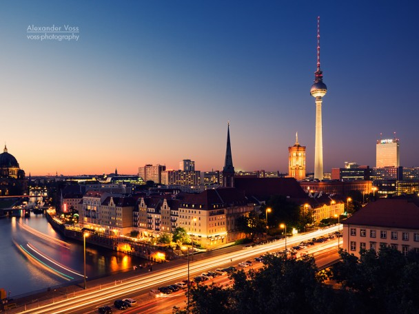 Berlin - Skyline bei Nacht