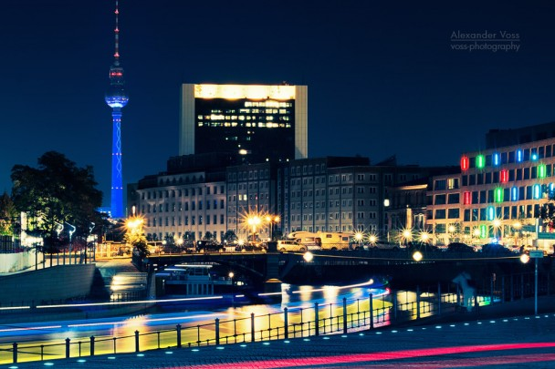 Berlin - Television Tower at Night / Skyline