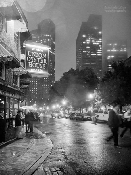Boston bei Nacht - Union Oyster House