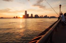 New York – Sonnenuntergang am Hudson River