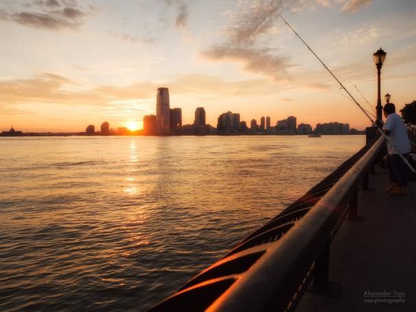 New York - Sonnenuntergang am Hudson River