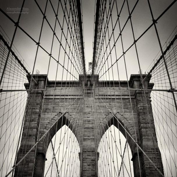 Analog Photography: New York City - Brooklyn Bridge