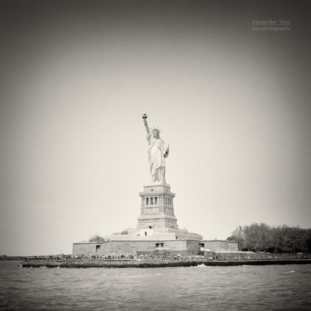 Analog Photography: New York City - Statue of Liberty