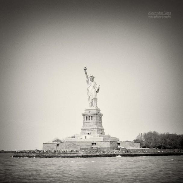 Analoge Fotografie: New York City - Freiheitsstatue / Liberty Island