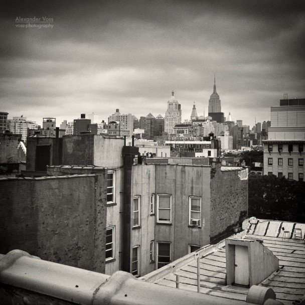 Analog Photography: New York City Roofscape