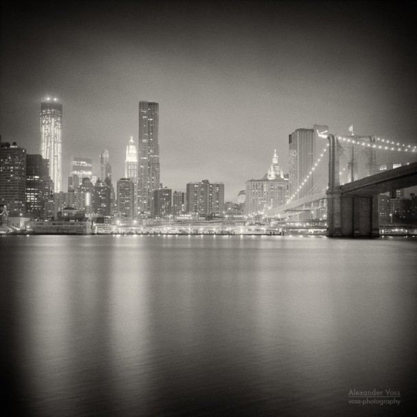 Analog Photography: New York City - Skyline at Night
