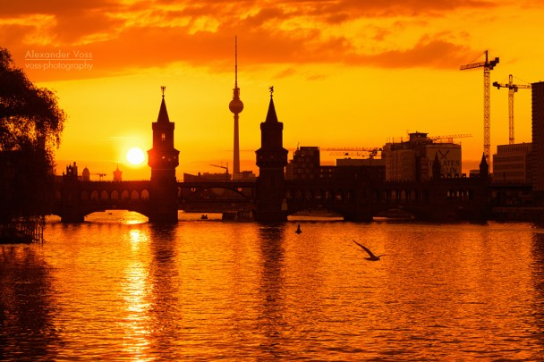 Berlin - Sunset Skyline / Oberbaum Bridge