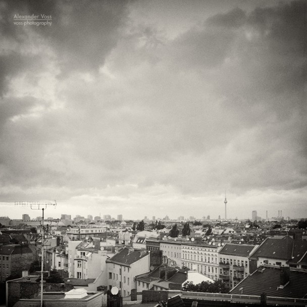 Analoge Fotografie: Berlin - Neukölln Roofscape