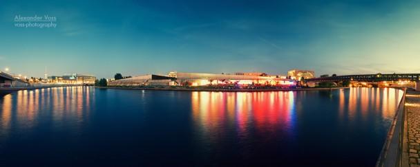 Berlin at Night - Panorama / Spree River