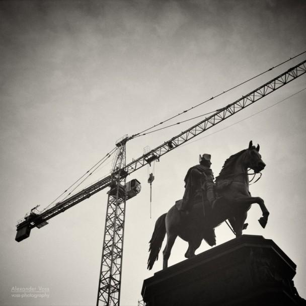 Analoge Fotografie: Berlin - Friedrich der Grosse / Unter den Linden