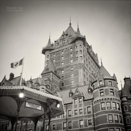 Analog Photography: Chateau Frontenac, Quebec