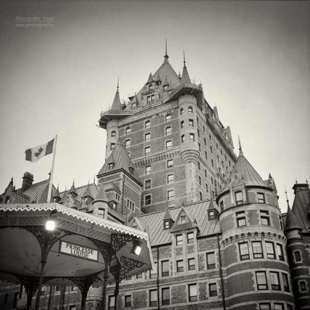 Analog Photography: Chateau Frontenac, Quebec