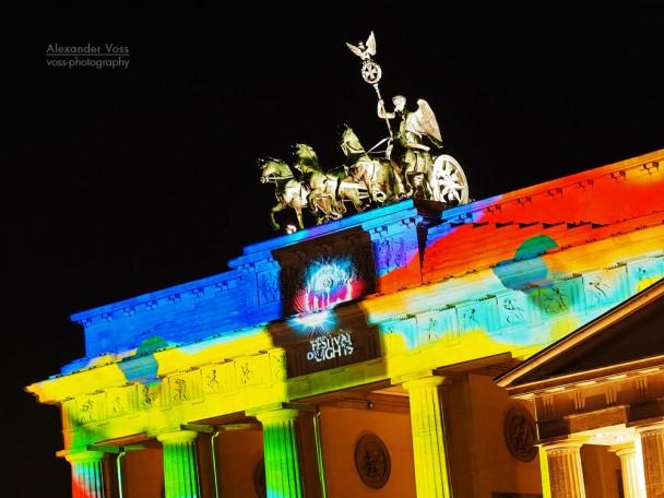Berlin - Brandenburger Tor, Festival of Lights 2013
