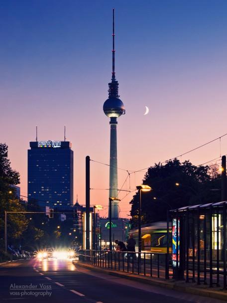 Berlin - Fernsehturm / Sonnenuntergang