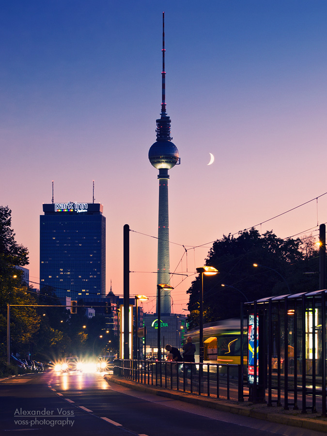 berlin fernsehturm sonnenuntergang alexander voss fotografie digital analog. Black Bedroom Furniture Sets. Home Design Ideas
