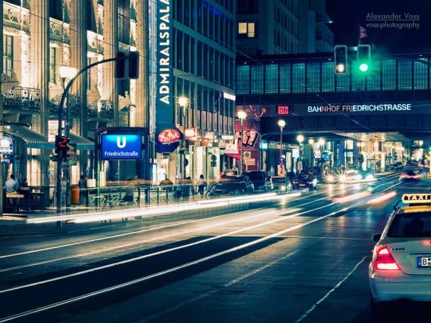 Berlin - Friedrichstrasse bei Nacht