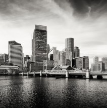 Boston Skyline / Black and White