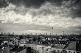 Schwarz-Weiss-Fotografie: Berlin Skyline