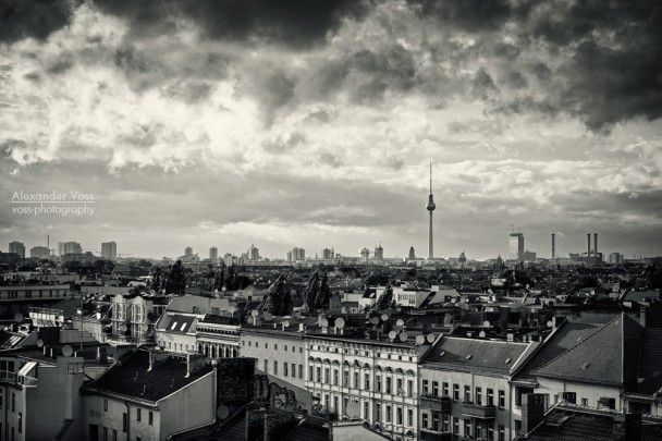 Black and White Photography: Berlin Skyline