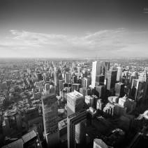 Toronto – Aussicht vom CN Tower / Schwarz-Weiss