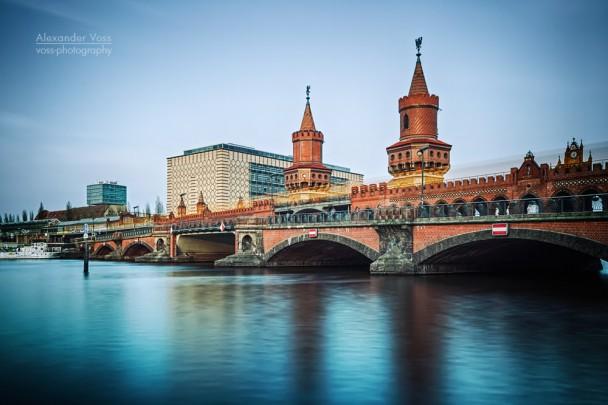 Berlin - Oberbaumbrücke (Langzeitbelichtung)