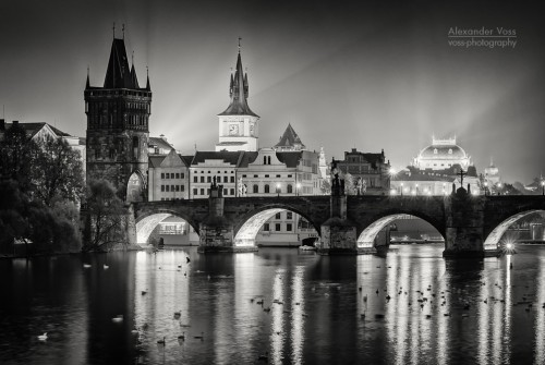 Black and White Photography: Prague – Charles Bridge