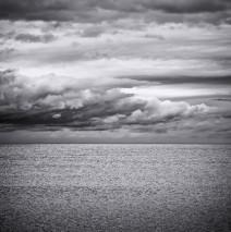 Schwarz-Weiss-Fotografie: Meerlandschaft