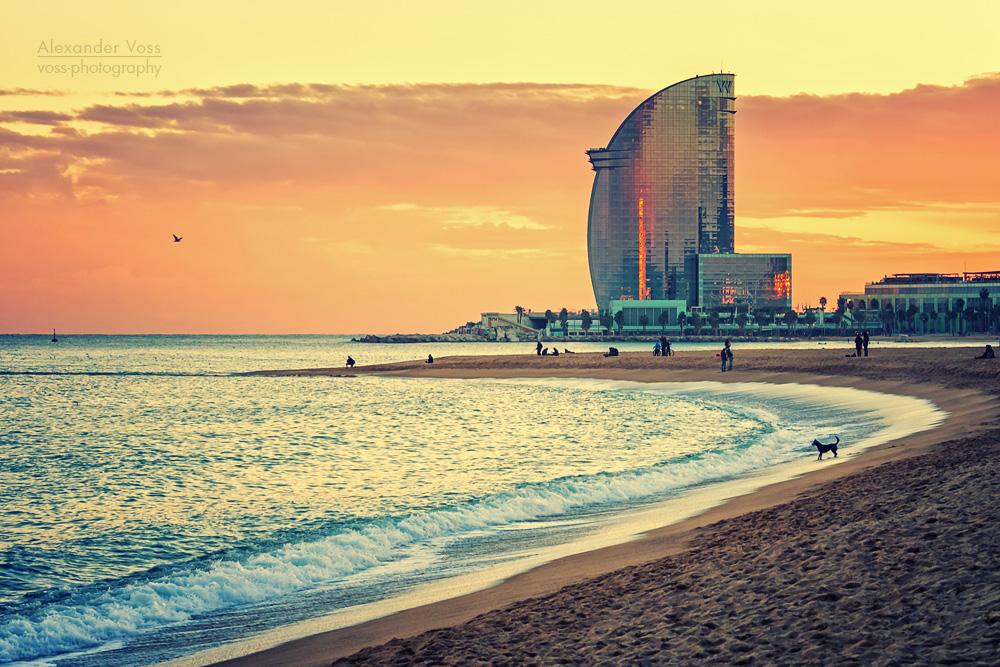 Barcelona – La Barceloneta Strand   Alexander Voss