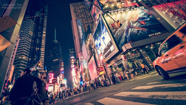 New York - Times Square bei Nacht