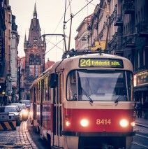 Prag – Strassenbahn / Heinrichsturm