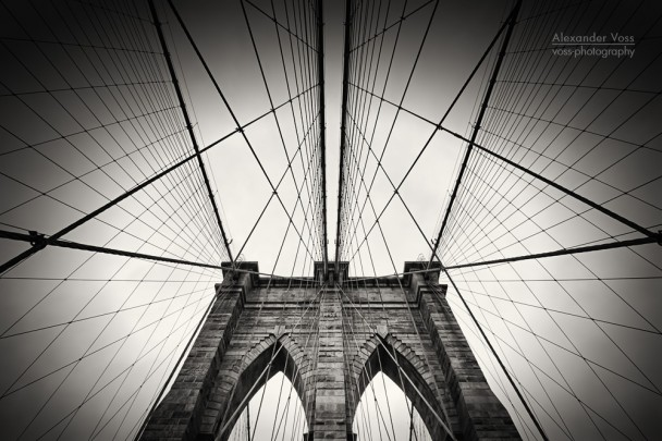 Black and White Photography: New York City - Brooklyn Bridge