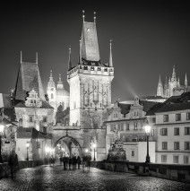 Black and White Photography: Prague at Night