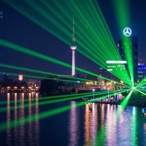 Berlin – Skyline bei Nacht / Spree-Panorama