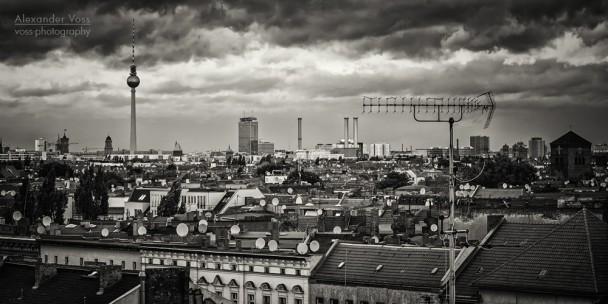 Schwarzweiss-Fotografie: Berlin - Skyline-Panorama