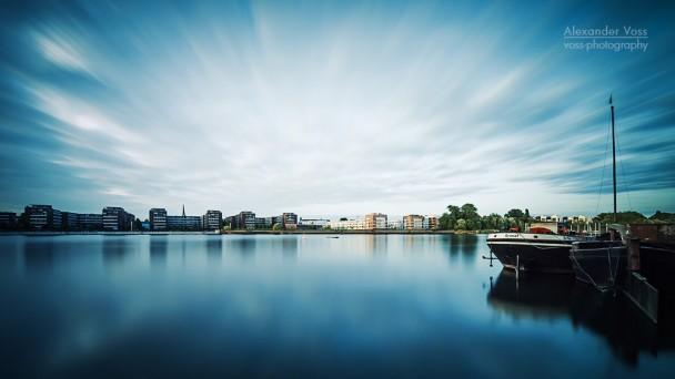 Langzeitbelichtung: Berlin - Rummelsburger Bucht