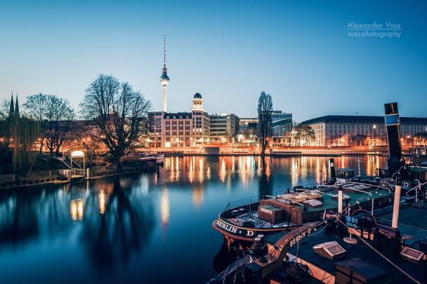 Berlin - Spree-Panorama / Historischer Hafen