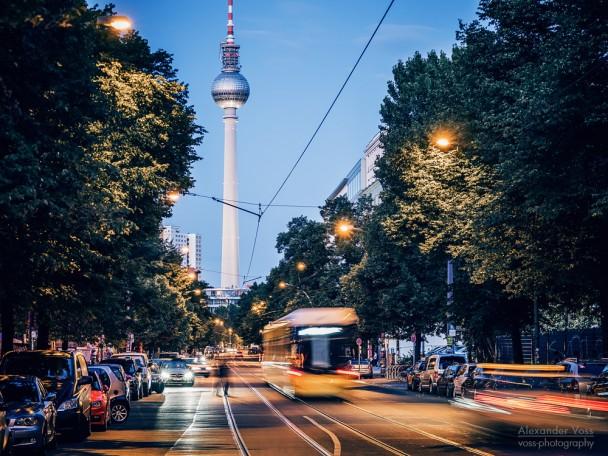 Berlin - Oranienburger Strasse / Fernsehturm