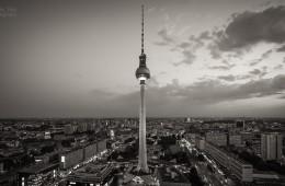 Fernsehturm Berlin (Schwarz/Weiß)