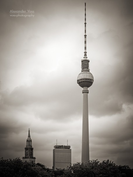 Black and White Photography: Berlin - TV Tower