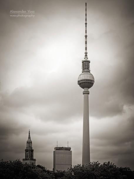Schwarzweiss-Fotografie: Berlin - Fernsehturm