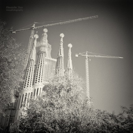 Analoge Schwarzweiss-Fotografie: Barcelona – Sagrada Familia