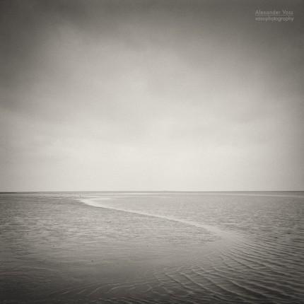 Analoge Schwarzweiss-Fotografie: Nordsee Wattenmeer