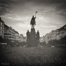 Analog Black and White Photography: Prague – Wenceslas Square