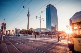 Berlin – Sonnenuntergang am Alexanderplatz