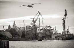Schwarzweiss-Fotografie: Hamburger Hafen