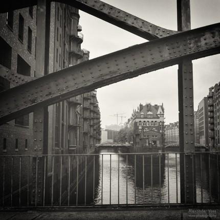 Analog Black and White Photography: Hamburg – Speicherstadt