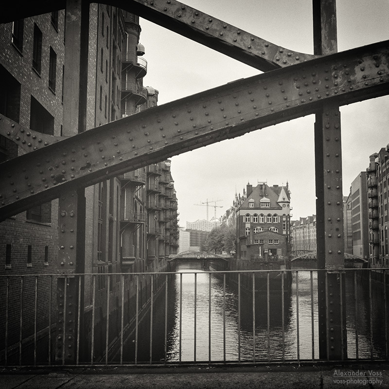Analog Black and White Photography: Hamburg - Speicherstadt