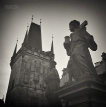 Analog Black and White Photography: Prague – Charles Bridge